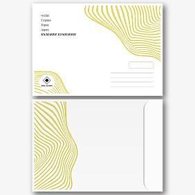 Шаблон фирменного конверта с логотипом
