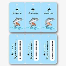 Шаблон дисконтной мини карты рыбного магазина