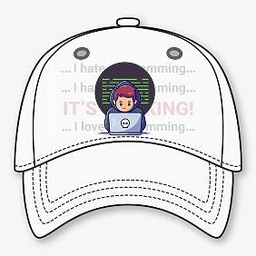 Шаблон бейсболки с логотипом