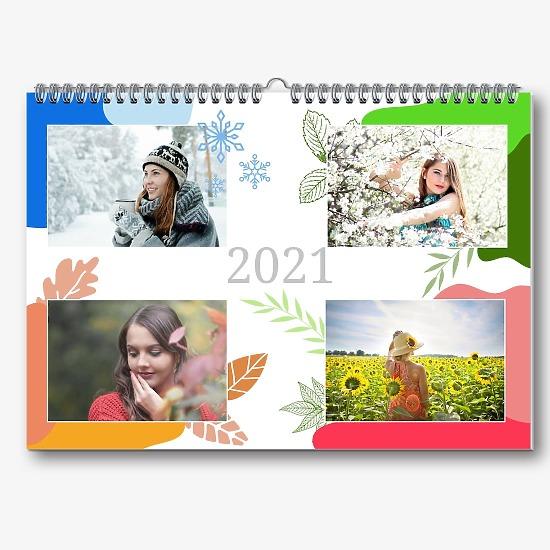 Шаблон календаря-портфолио фотографа