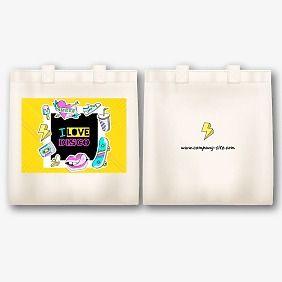Шаблон тканевой сумки с принтом