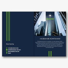 Шаблон брошюры бизнес компании