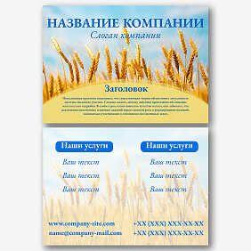Шаблон листовки с украинской символикой