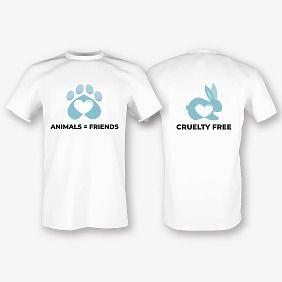 Шаблон футболки с принтом