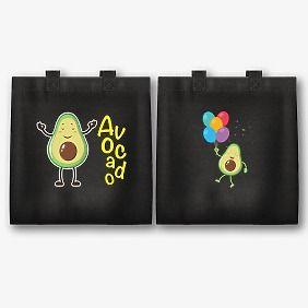Шаблон экосумки с принтом авокадо